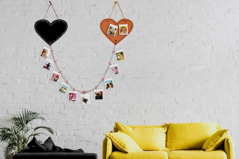 decorazione parete portafoto da appendere